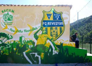 Fresque Stade de la colline au Revest les Eaux