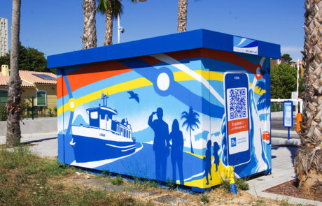 fresques interactives à Ollioules, Parc Relais du Réseau Mistral