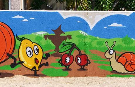 fresque à La Londes-les-Maures, École Moulin Vieux
