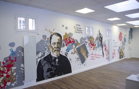 fresque à Paris, Groupe Pasteur Mutualité