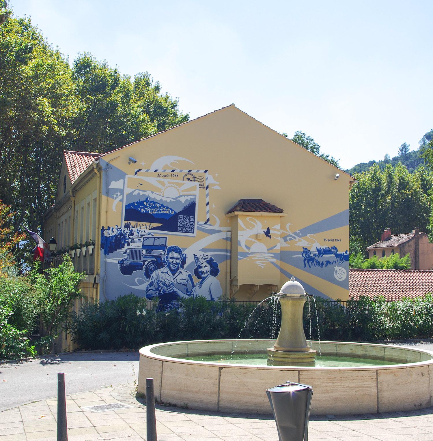 Fresque connectée de la Mairie du Revest-les-Eaux Var 83